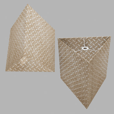 Triangle Lamp Shade - P10 - Batik Tread Plate Natural, 40cm(w) x 40cm(h)