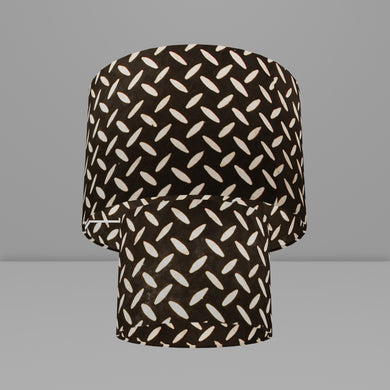 2 Tier Lamp Shade - P11 - Batik Tread Plate Black, 30cm x 20cm & 20cm x 15cm