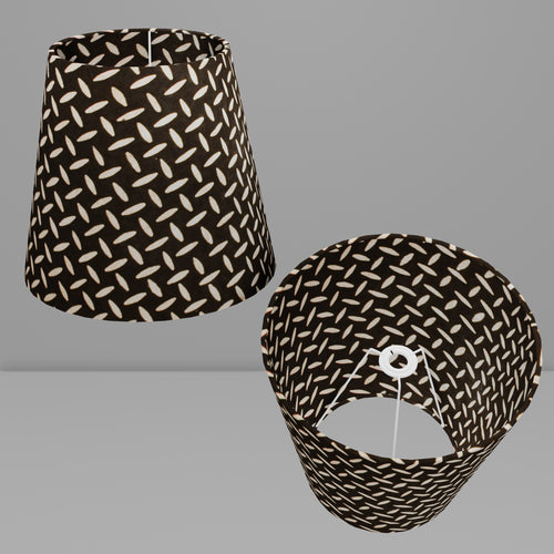 Conical Lamp Shade P11 - Batik Tread Plate Black, 23cm(top) x 35cm(bottom) x 31cm(height)