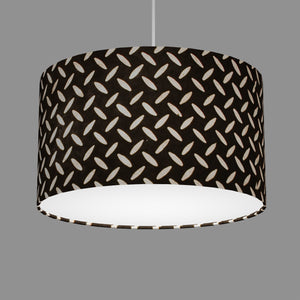 Drum Lamp Shade - P11 - Batik Tread Plate Black, 35cm(d) x 20cm(h)