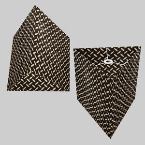 Triangle Lamp Shade - P11 - Batik Tread Plate Black, 40cm(w) x 40cm(h)