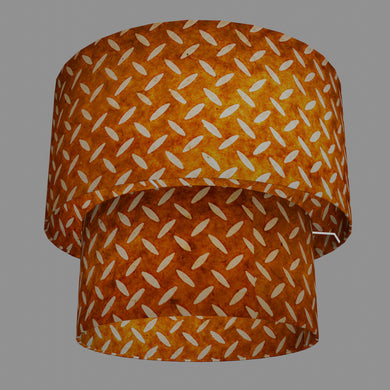 2 Tier Lamp Shade - P12 - Batik Tread Plate Brown, 40cm x 20cm & 30cm x 15cm