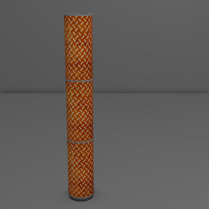 3 Panel Floor Lamp - P12 - Batik Tread Plate Brown, 20cm(d) x 1.4m(h)
