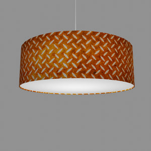 Drum Lamp Shade - P12 - Batik Tread Plate Brown, 60cm(d) x 20cm(h)