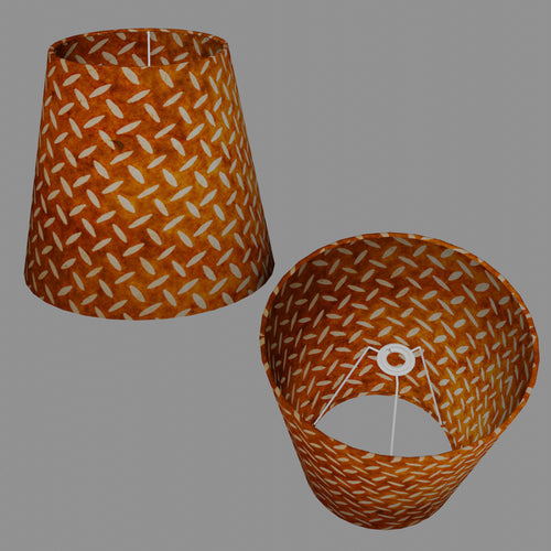Conical Lamp Shade P12 - Batik Tread Plate Brown, 23cm(top) x 35cm(bottom) x 31cm(height)