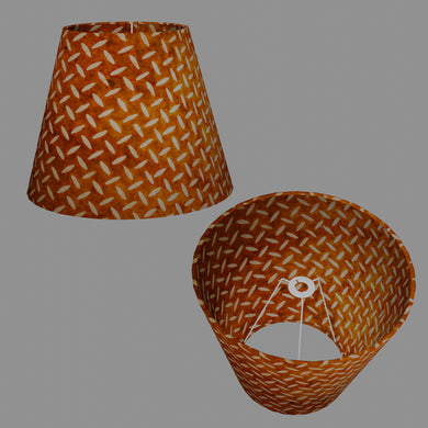 Conical Lamp Shade P12 - Batik Tread Plate Brown, 23cm(top) x 40cm(bottom) x 31cm(height)