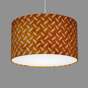 Drum Lamp Shade - P12 - Batik Tread Plate Brown, 35cm(d) x 20cm(h)