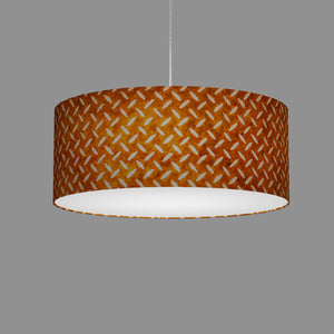 Drum Lamp Shade - P12 - Batik Tread Plate Brown, 50cm(d) x 20cm(h)
