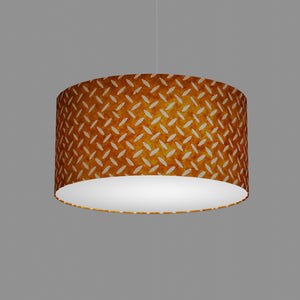Drum Lamp Shade - P12 - Batik Tread Plate Brown, 50cm(d) x 25cm(h)