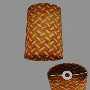 Oval Lamp Shade - P12 - Batik Tread Plate Brown, 20cm(w) x 30cm(h) x 13cm(d)