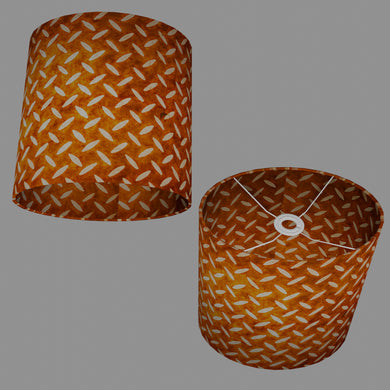 Oval Lamp Shade - P12 - Batik Tread Plate Brown, 30cm(w) x 30cm(h) x 22cm(d)