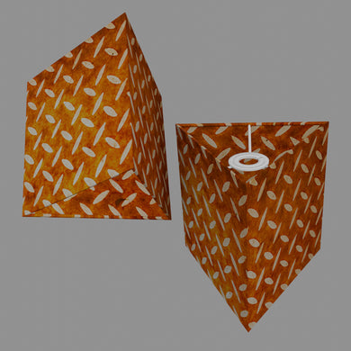 Triangle Lamp Shade - P12 - Batik Tread Plate Brown, 20cm(w) x 20cm(h)