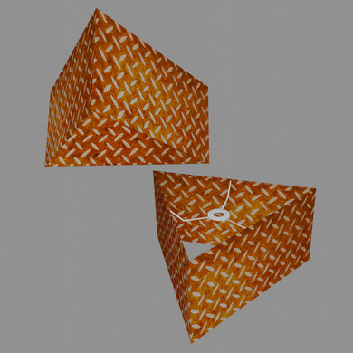 Triangle Lamp Shade - P12 - Batik Tread Plate Brown, 40cm(w) x 20cm(h)