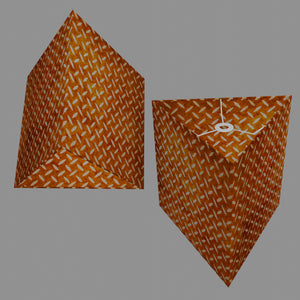 Triangle Lamp Shade - P12 - Batik Tread Plate Brown, 40cm(w) x 40cm(h)