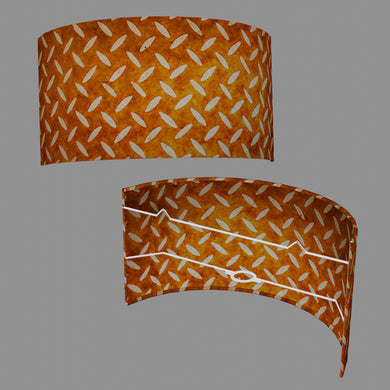 Wall Light - P12 - Batik Tread Plate Brown, 36cm(wide) x 20cm(h)
