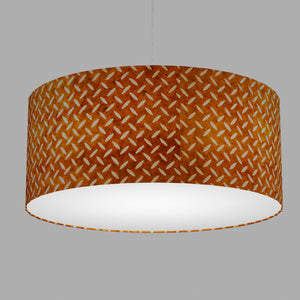 Drum Lamp Shade - P12 - Batik Tread Plate Brown, 70cm(d) x 30cm(h)