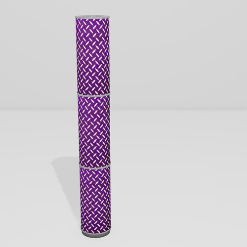3 Panel Floor Lamp - P13 - Batik Tread Plate Purple, 20cm(d) x 1.4m(h)