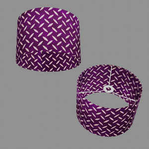 Drum Lamp Shade - P13 - Batik Tread Plate Purple, 30cm(d) x 20cm(h)