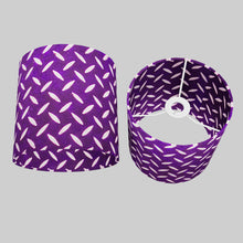 Drum Lamp Shade - P13 - Batik Tread Plate Purple, 20cm(d) x 20cm(h)