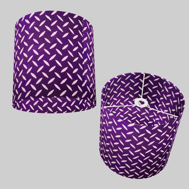Drum Lamp Shade - P13 - Batik Tread Plate Purple, 25cm x 25cm