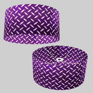 Oval Lamp Shade - P13 - Batik Tread Plate Purple, 40cm(w) x 20cm(h) x 30cm(d)