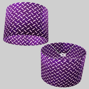 Oval Lamp Shade - P13 - Batik Tread Plate Purple, 40cm(w) x 30cm(h) x 30cm(d)