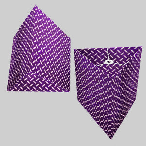 Triangle Lamp Shade - P13 - Batik Tread Plate Purple, 40cm(w) x 40cm(h)
