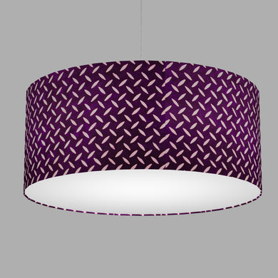 Drum Lamp Shade - P13 - Batik Tread Plate Purple, 70cm(d) x 30cm(h)