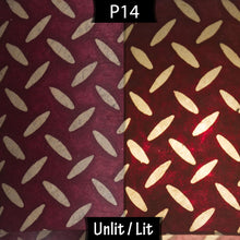 Drum Lamp Shade - P14 - Batik Tread Plate Cranberry, 15cm(d) x 20cm(h)