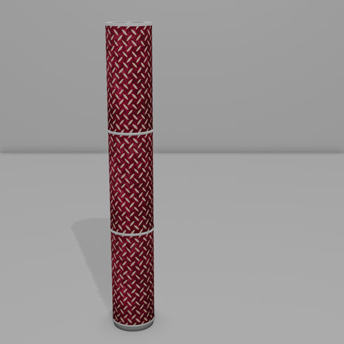 3 Panel Floor Lamp - P14 - Batik Tread Plate Cranberry, 20cm(d) x 1.4m(h)