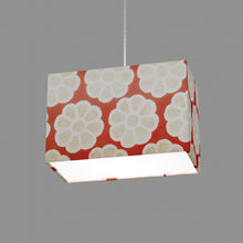 Rectangle Lamp Shade - P18 - Batik Big Flower on Red, 30cm(w) x 20cm(h) x 15cm(d)