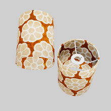 Drum Lamp Shade - P20 - Batik Big Flower on Brown, 15cm(d) x 20cm(h)