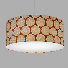 Drum Lamp Shade - P20 - Batik Big Flower on Brown, 70cm(d) x 30cm(h)