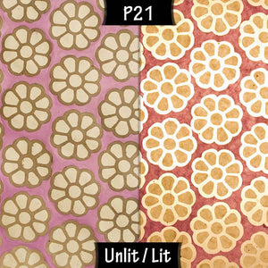 Sepele Tripod Floor Lamp - P21 - Batik Big Flower on Lilac - Imbue Lighting