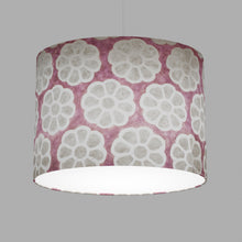 Oval Lamp Shade - P21 - Batik Big Flower on Lilac, 40cm(w) x 30cm(h) x 30cm(d)