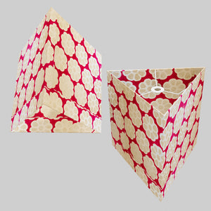 Triangle Lamp Shade - P22 - Batik Big Flower on Hot Pink, 40cm(w) x 40cm(h)