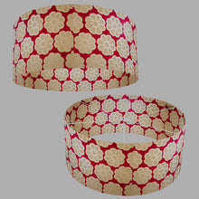 Drum Lamp Shade - P22 - Batik Big Flower on Hot Pink, 70cm(d) x 30cm(h)