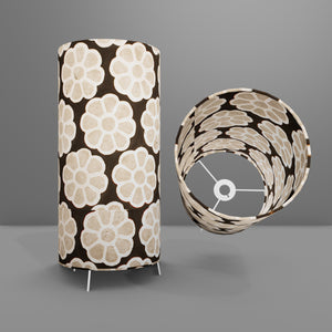 Free Standing Table Lamp Large - P24 ~ Batik Big Flower on Black