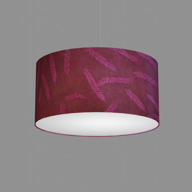 Drum Lamp Shade - P25 - Resistance Dyed Pink Fern, 50cm(d) x 25cm(h)