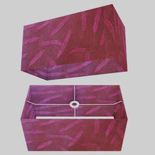 Rectangle Lamp Shade - P25 - Resistance Dyed Pink Fern, 50cm(w) x 25cm(h) x 25cm(d)