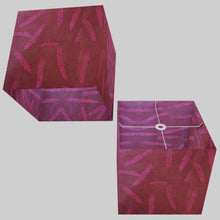 Square Lamp Shade - P25 - Resistance Dyed Pink Fern, 40cm(w) x 40cm(h) x 40cm(d)