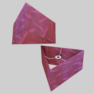 Triangle Lamp Shade - P25 - Resistance Dyed Pink Fern, 40cm(w) x 20cm(h)
