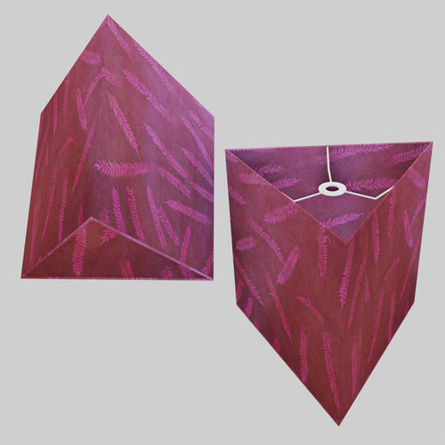 Triangle Lamp Shade - P25 - Resistance Dyed Pink Fern, 40cm(w) x 40cm(h)