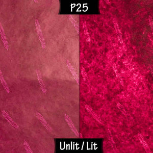 Drum Lamp Shade - P25 - Resistance Dyed Pink Fern, 30cm(d) x 30cm(h) - Imbue Lighting