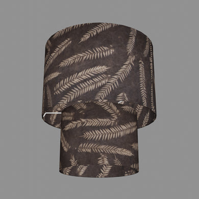 2 Tier Lamp Shade - P26 - Resistance Dyed Brown Fern, 30cm x 20cm & 20cm x 15cm