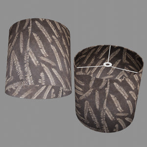 Drum Lamp Shade - P26 - Resistance Dyed Brown Fern, 40cm(d) x 40cm(h)
