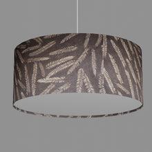 Drum Lamp Shade - P26 - Resistance Dyed Brown Fern, 70cm(d) x 30cm(h)