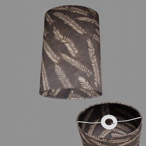 Oval Lamp Shade - P26 - Resistance Dyed Brown Fern, 20cm(w) x 30cm(h) x 13cm(d)
