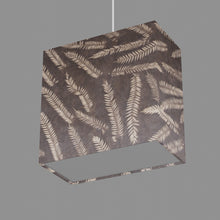 Rectangle Lamp Shade - P26 - Resistance Dyed Brown Fern, 30cm(w) x 30cm(h) x 15cm(d)