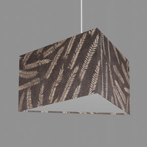 Triangle Lamp Shade - P26 - Resistance Dyed Brown Fern, 40cm(w) x 20cm(h)